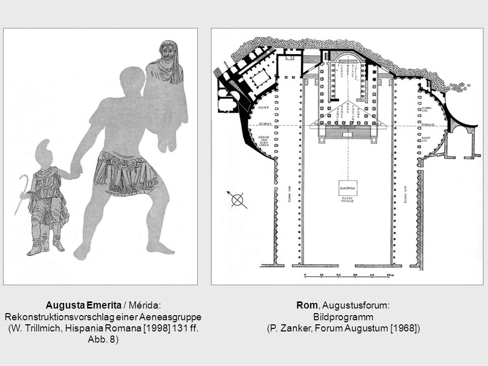 Rom, Augustusforum: Bildprogramm (P. Zanker, Forum Augustum [1968])
